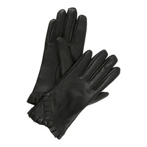 PIECES Prstové rukavice  černá