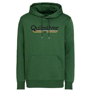 QUIKSILVER Sportovní mikina  zelený melír / černá / oranžová / bílá / žlutá
