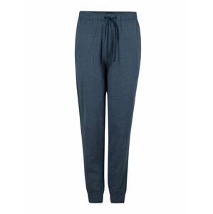 SCHIESSER Pyžamové kalhoty 'Mix+Relax'  bílá / tmavě modrá