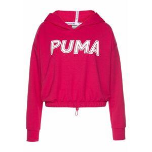 PUMA Sportovní mikina  pink / bílá