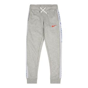 Nike Sportswear Kalhoty  světle šedá / světle červená / královská modrá / bílá