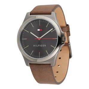 TOMMY HILFIGER Analogové hodinky  hnědá / stříbrná