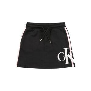 Calvin Klein Jeans Sukně  černá