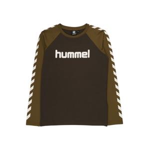 Hummel Tričko  khaki / bílá / černá