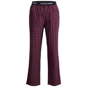 JACK & JONES Pyžamové kalhoty  červená / tmavě modrá / bílá