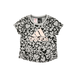 ADIDAS PERFORMANCE Funkční tričko  světle šedá / černá / růžová