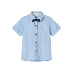 NAME IT Košile 'Fugl'  světlemodrá / tmavě modrá