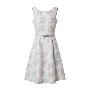 COMMA Šaty  šedá / bílá