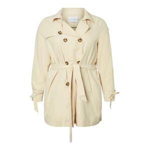 Junarose Přechodný kabát  krémová