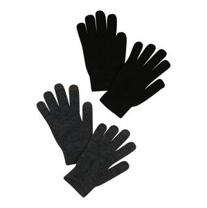 ONLY Prstové rukavice 'Aline'  šedá / černá