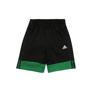 ADIDAS PERFORMANCE Sportovní kalhoty  černá / zelená / bílá