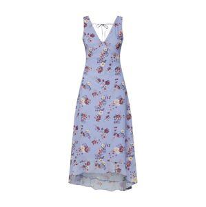 even&odd Letní šaty  cappuccino / světle fialová / červená