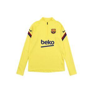 NIKE Sportovní mikina 'FC Barcelona'  světle žlutá / modrá / tmavě červená
