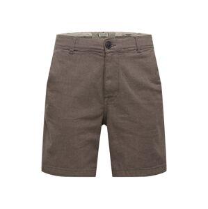 SELECTED HOMME Chino kalhoty 'STORM'  hnědý melír