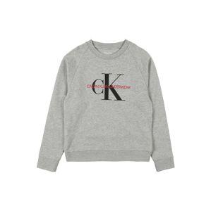 Calvin Klein Underwear Mikina  šedý melír / černá / světle červená