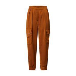 OBJECT Kalhoty 'Amber'  rezavě hnědá
