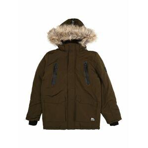 STACCATO Zimní bunda  tmavě zelená / světle hnědá