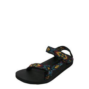 TEVA Trekingové sandály  bordó / černá / tyrkysová / žlutá