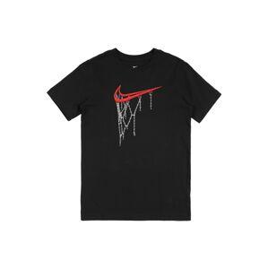Nike Sportswear Tričko  černá / melounová / bílá