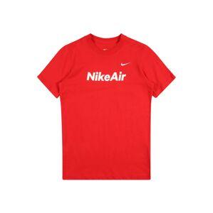Nike Sportswear Tričko 'Air'  červená / bílá