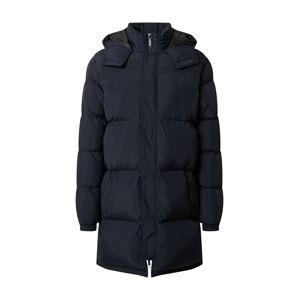 BLEND Zimní kabát  námořnická modř / šedobéžová