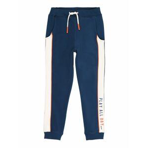 NAME IT Kalhoty 'LOOP'  bílá / oranžová / tmavě modrá