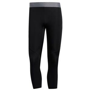 ADIDAS PERFORMANCE Sportovní kalhoty  černá / stříbrně šedá