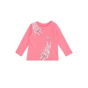BLUE SEVEN Tričko  růžová / světle růžová / bílá