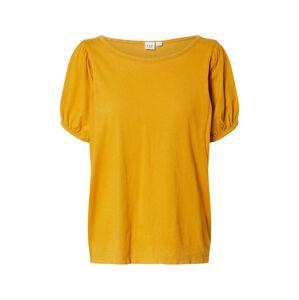 GAP Tričko ' AUTH PUFF'  zlatě žlutá