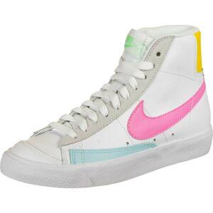Nike Sportswear Kotníkové tenisky 'Blazer MID 77 Vintage'  žlutá / světle šedá / bílá / světle růžová / opálová