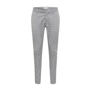 Cotton On Chino kalhoty  šedá / bílá / černá