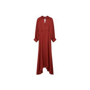 MANGO Košilové šaty  oranžově červená