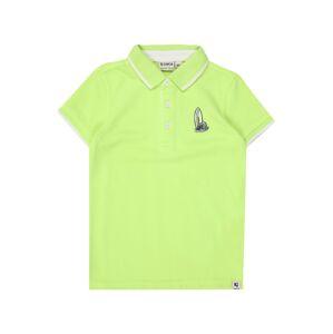 GARCIA Tričko  bílá / svítivě zelená