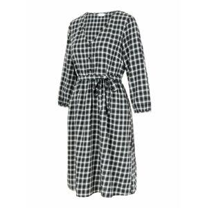MAMALICIOUS Šaty  černá / bílá