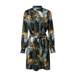 PIECES Košilové šaty 'KIMI'  olivová / černá / mix barev
