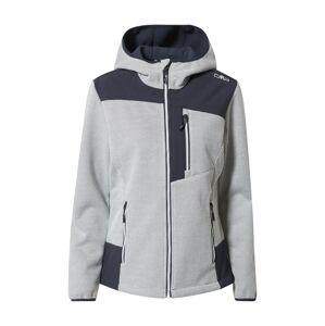 CMP Sportovní bunda  šedá / námořnická modř