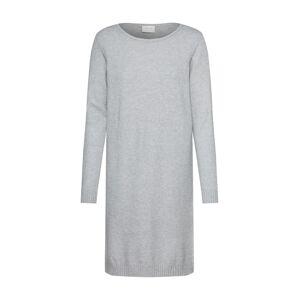 VILA Úpletové šaty  šedá