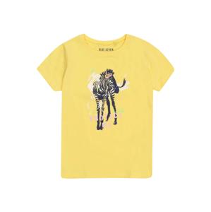 BLUE SEVEN Tričko  žlutá / černá / pink